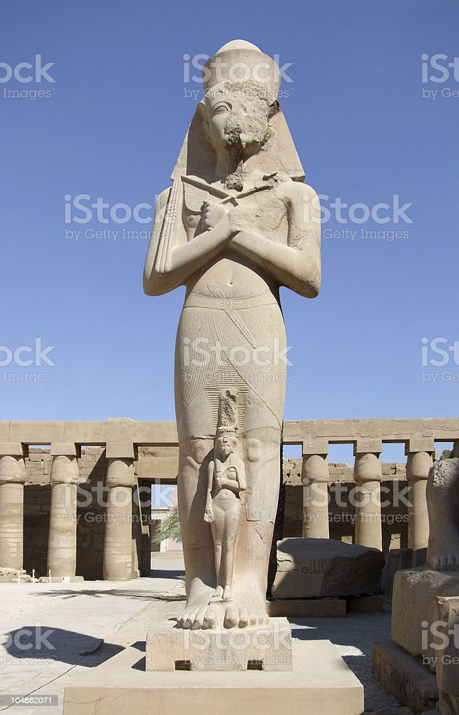 Ramses II at Precinct of Amun-Re royalty-free stock photo