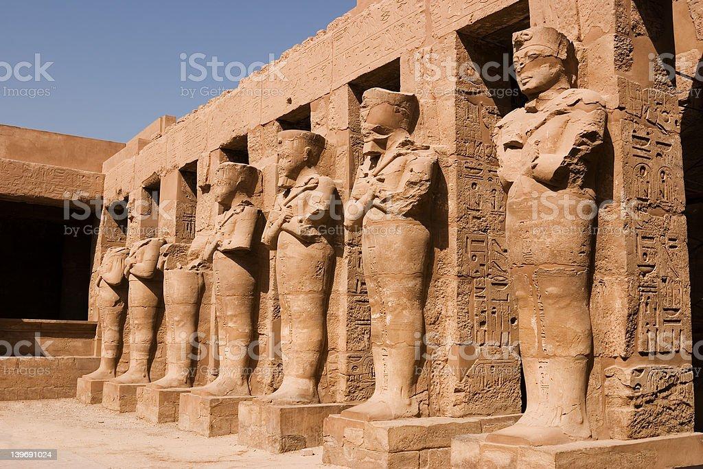 Ramses III Statues stock photo
