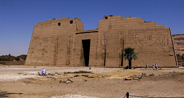 Ramses III Temple FaAade of Ramses III Temple in Egypt Tomb Of Ramses III stock pictures, royalty-free photos & images