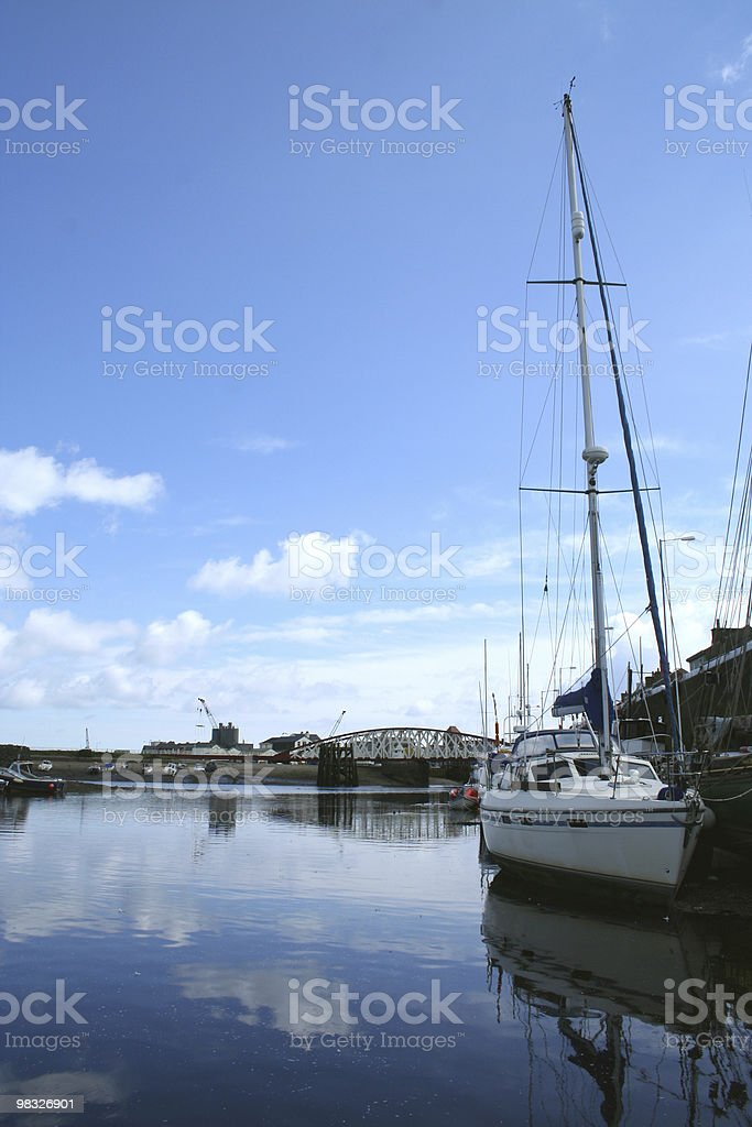 Ramsey harbour view royalty-free stock photo