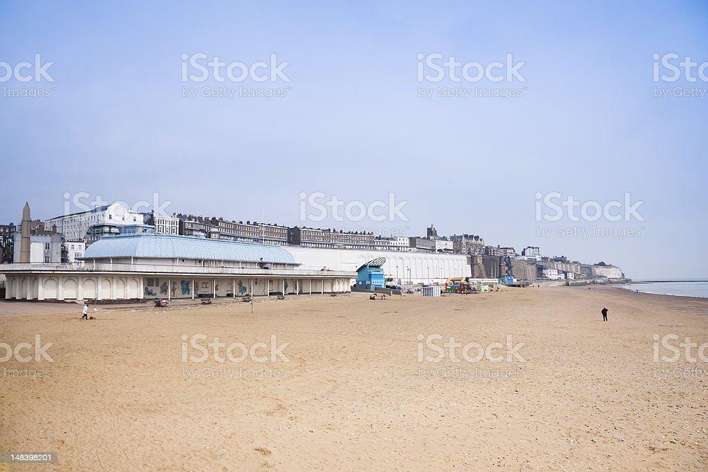 ramsgate golden sand beach kent england stock photo