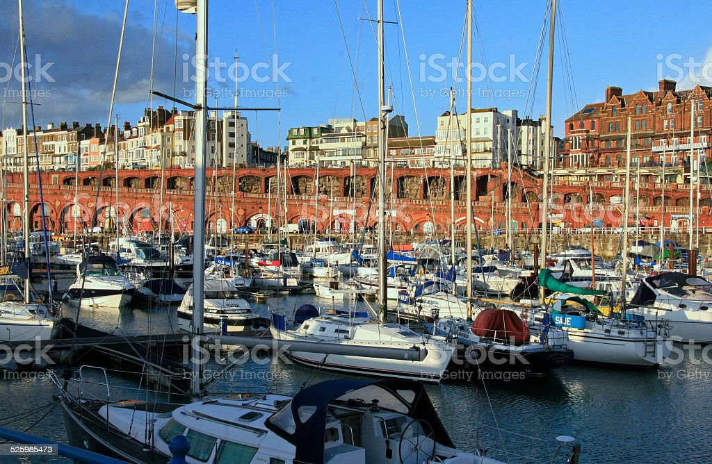 Ramsgate Harbour stock photo
