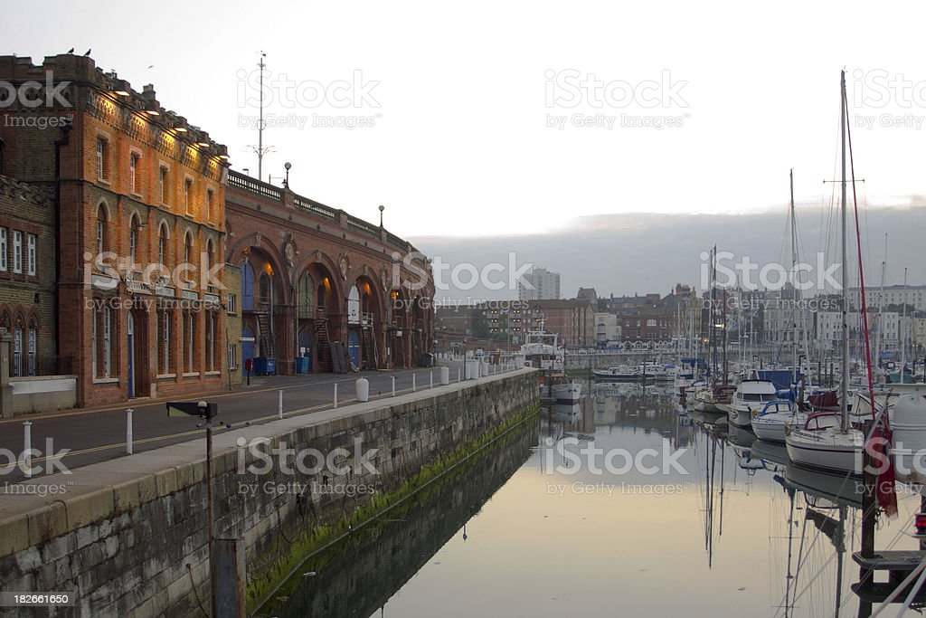 Ramsgate Marina stock photo