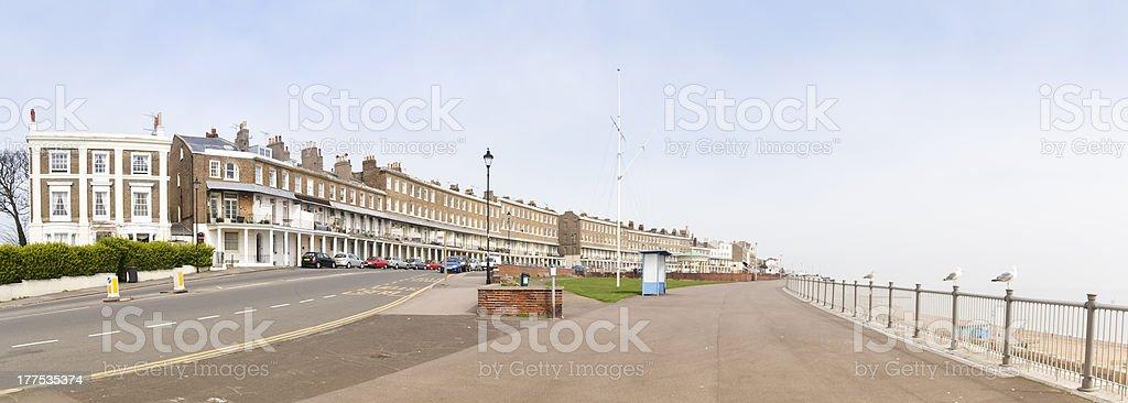 ramsgate seafront promenade kent england stock photo