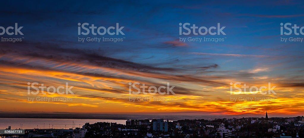 Ramsgate sunset stock photo