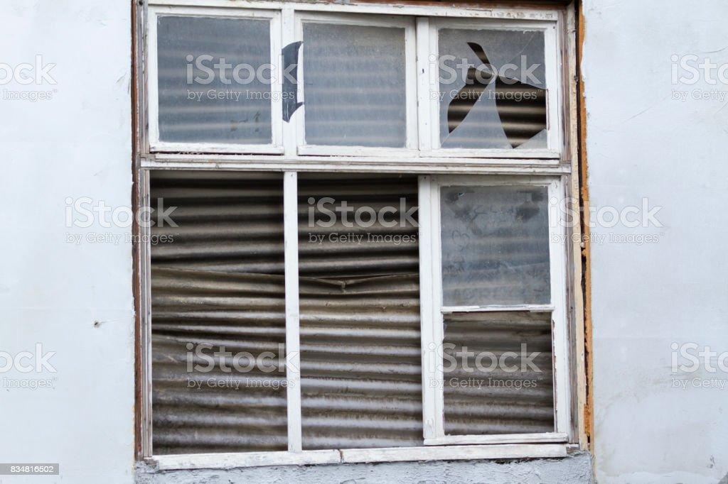 Ramshackle Window stock photo