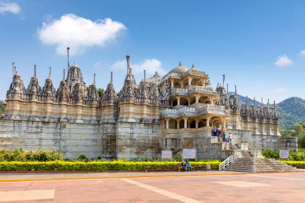 Ranakpur Jain temple in Rajasthan stock photo