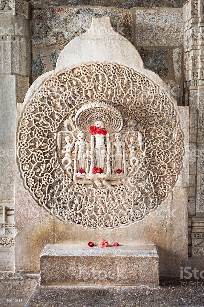 Ranakpur Temple interior stock photo