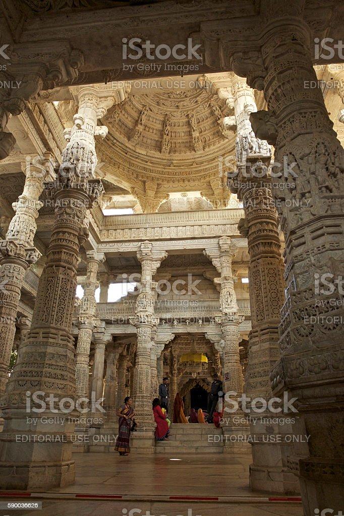 Ranakpur Temple, Rajasthan stock photo