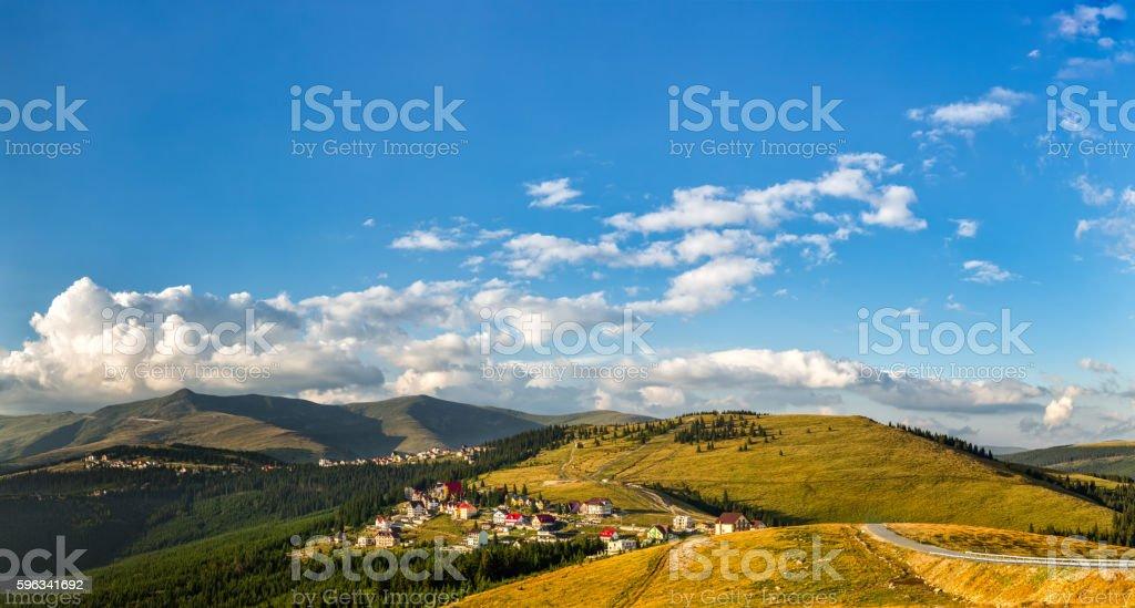 Ranca resort panorama royalty-free stock photo