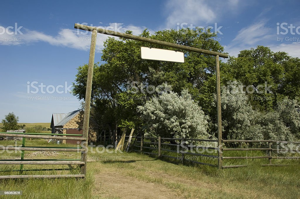 Ranch Entrance in Wyoming royalty-free stock photo