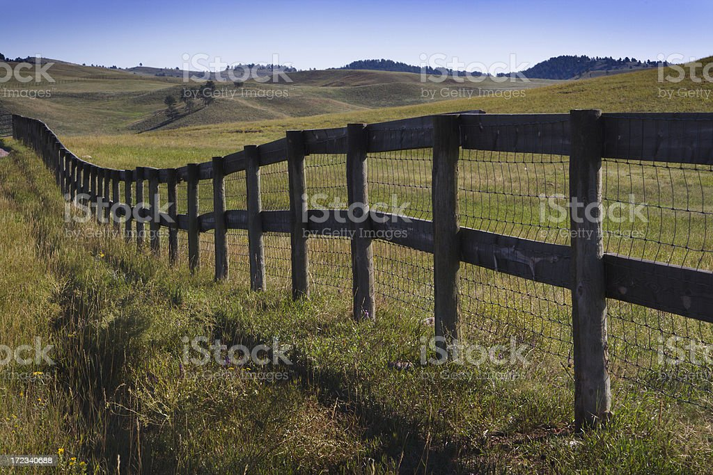 Ranch Fence royalty-free stock photo