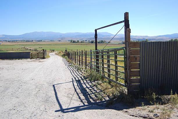 Ranch Gate stock photo