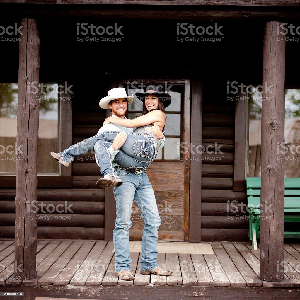 Ranch honeymoon stock photo