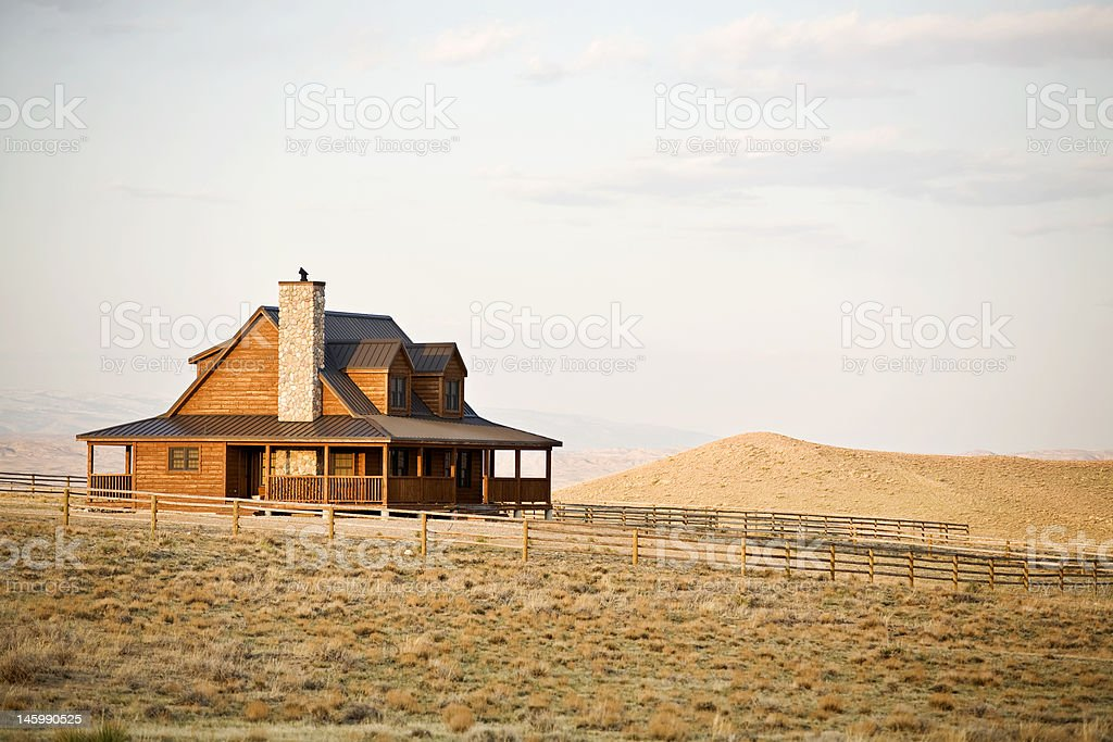 ranch house in midwest stock photo