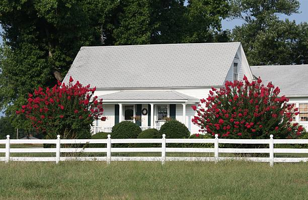 Ranch house in RTP, North Carolina stock photo