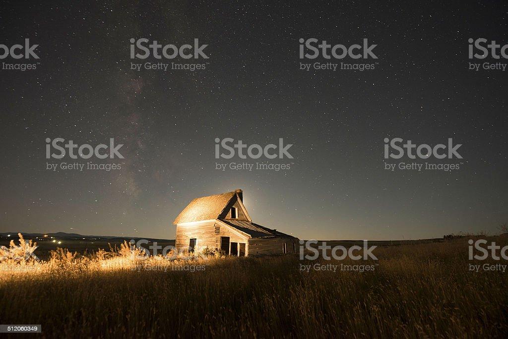 Ranch House in South Dakota stock photo