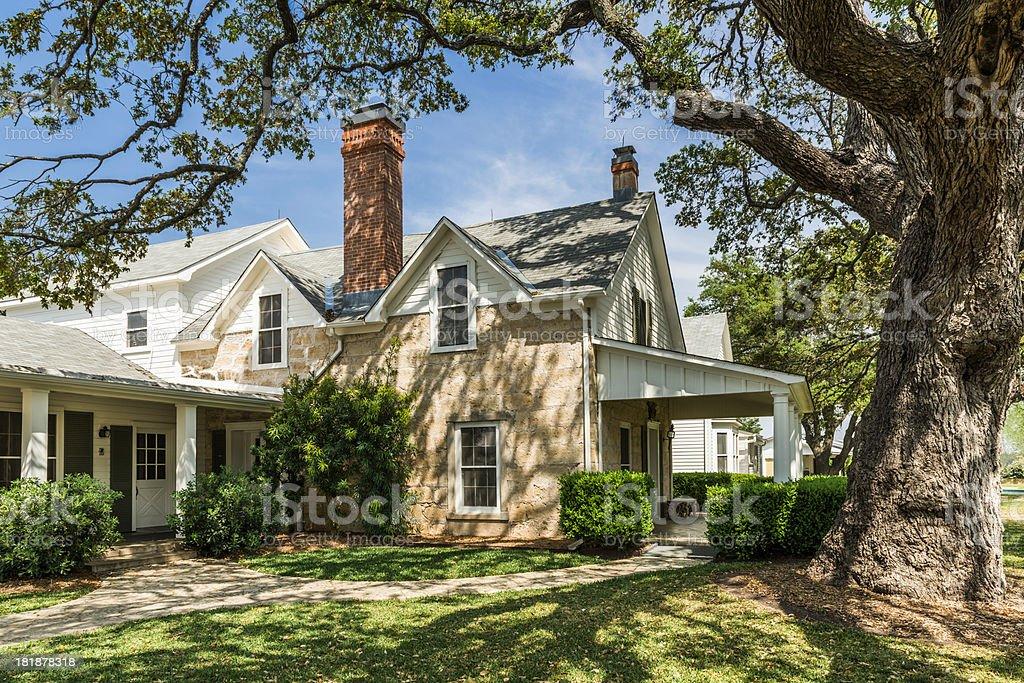 ranch house - Lyndon B. Johnson National Historic Park, Texas stock photo