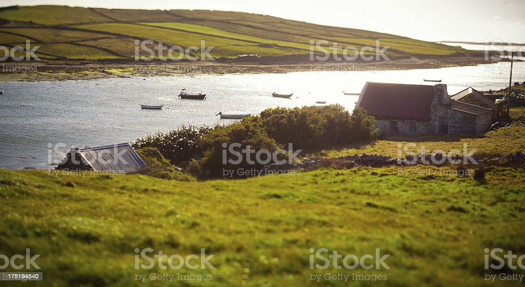 Ranch in Ireland stock photo