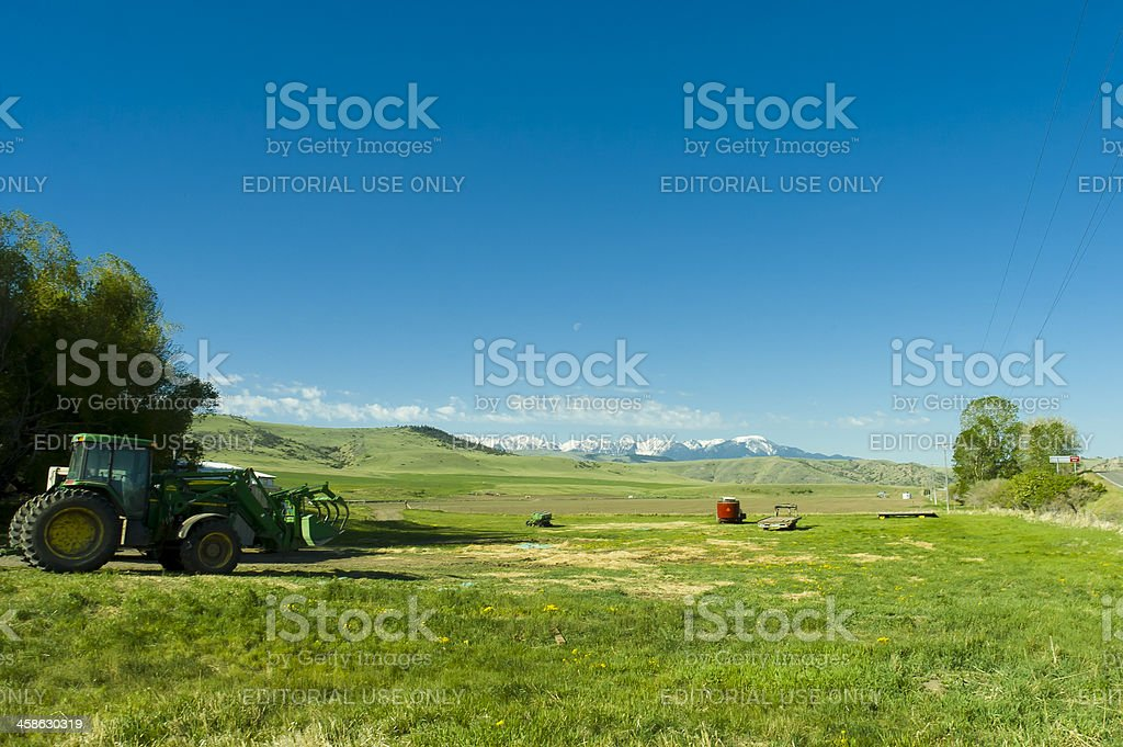 ranch in the mountains of Montana state stock photo