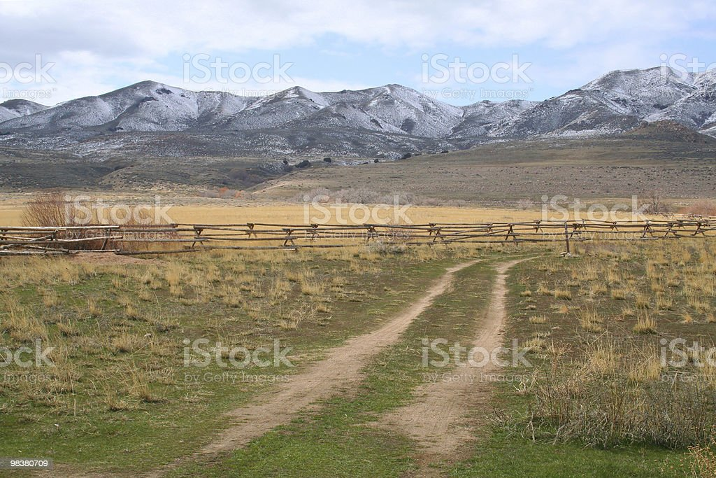 Ranch terra foto stock royalty-free