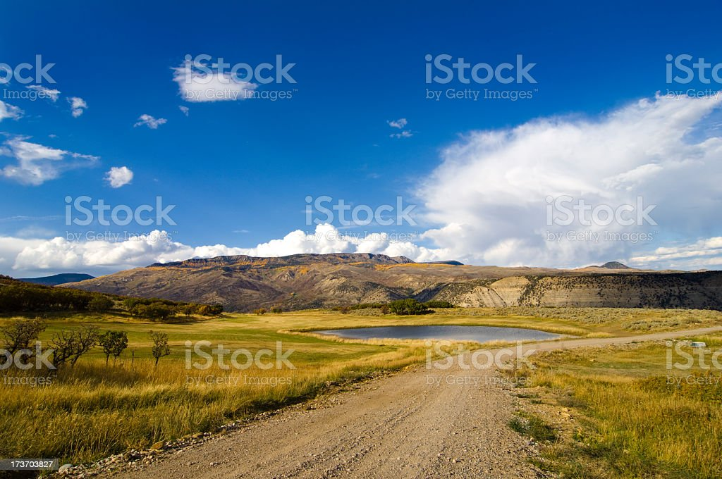Ranch Land with Blue Sky royalty-free stock photo