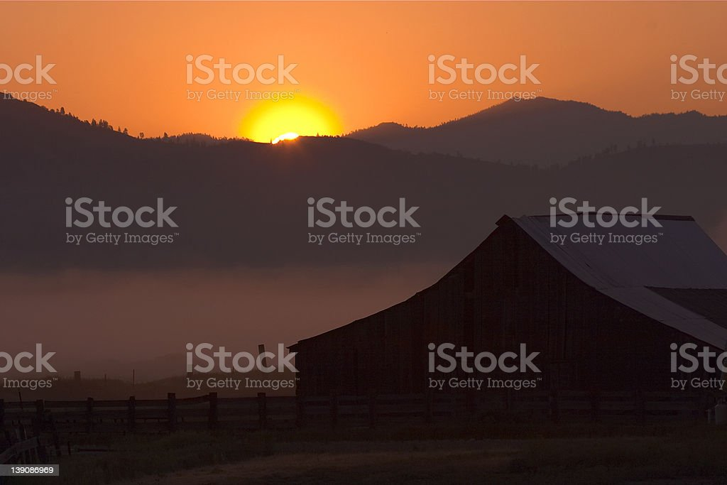 Ranch Morning royalty-free stock photo