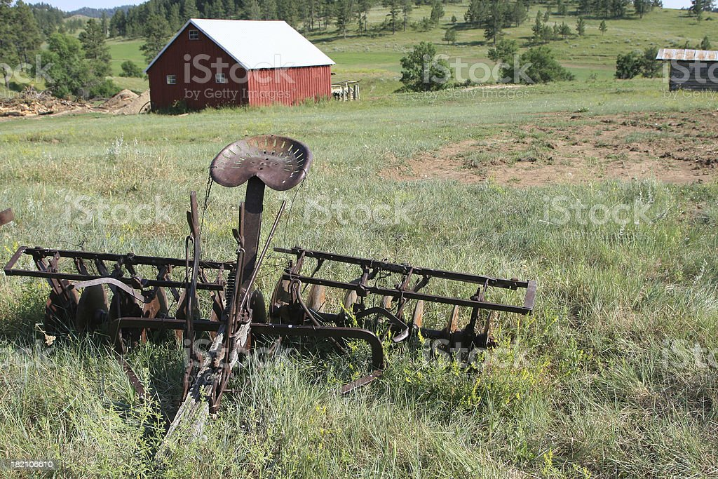 Ranch scene in rural Montana royalty-free stock photo