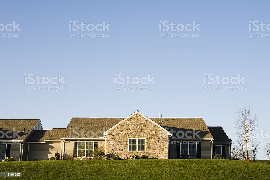 Ranch style home stock photo