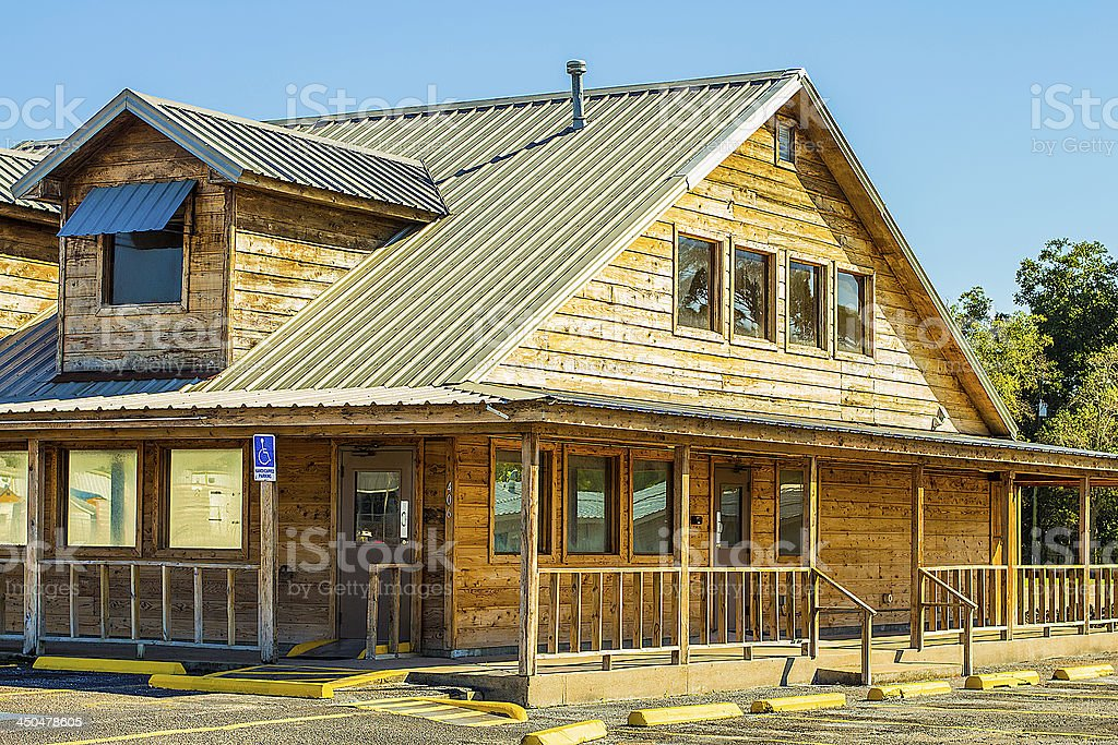 Ranch Style Restaurant Building stock photo