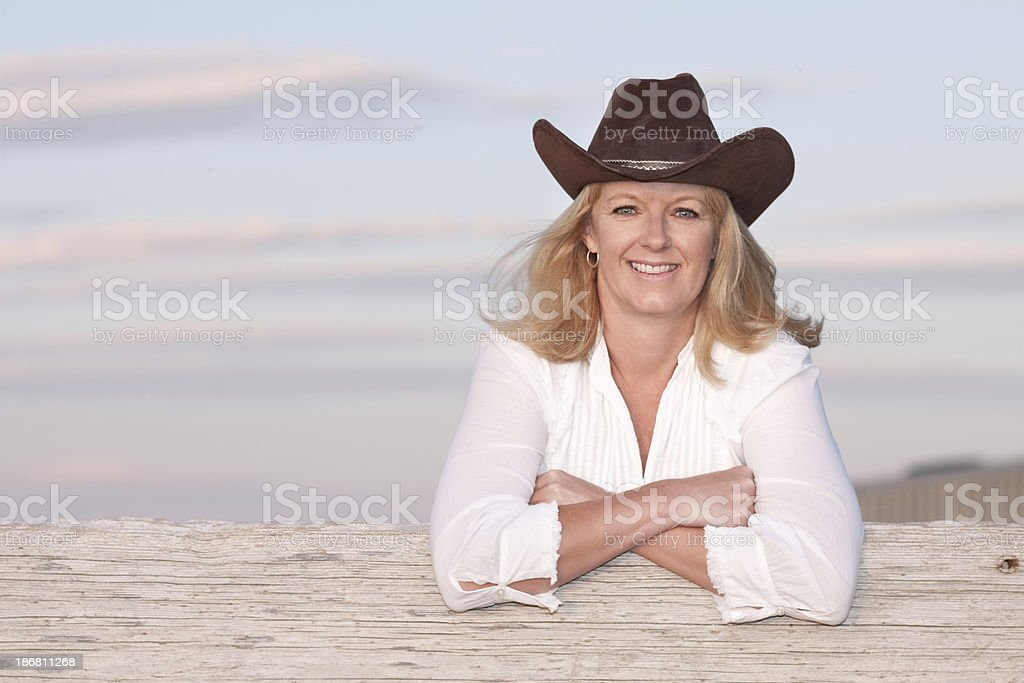 Ranch Woman royalty-free stock photo