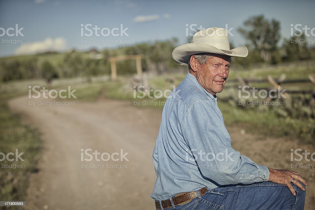 Rancher on a Road royalty-free stock photo