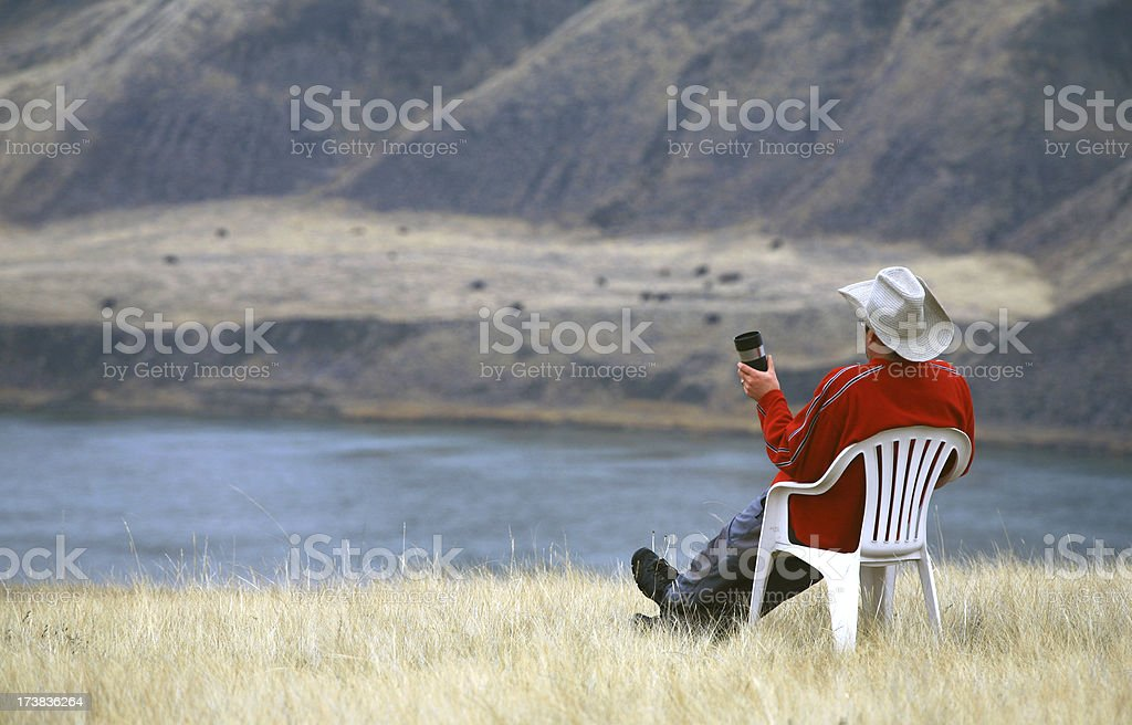 Rancher on Break stock photo