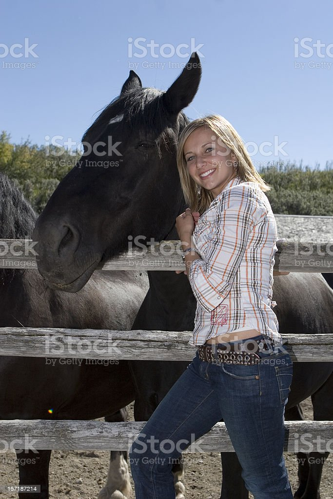 Rancher with horse royalty-free stock photo