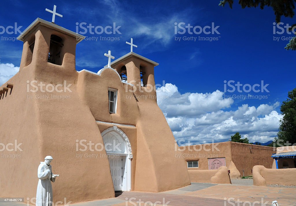 Ranchos de Taos, NM, USA: St Francis of Assisi Church royalty-free stock photo