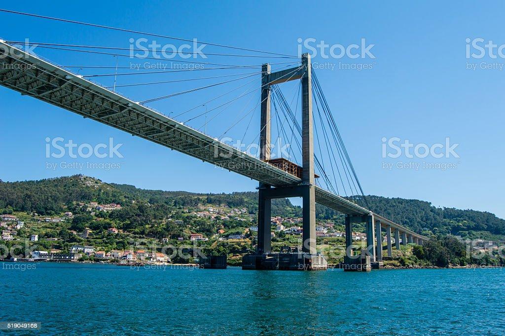 Puente de Rande, Vigo stock photo