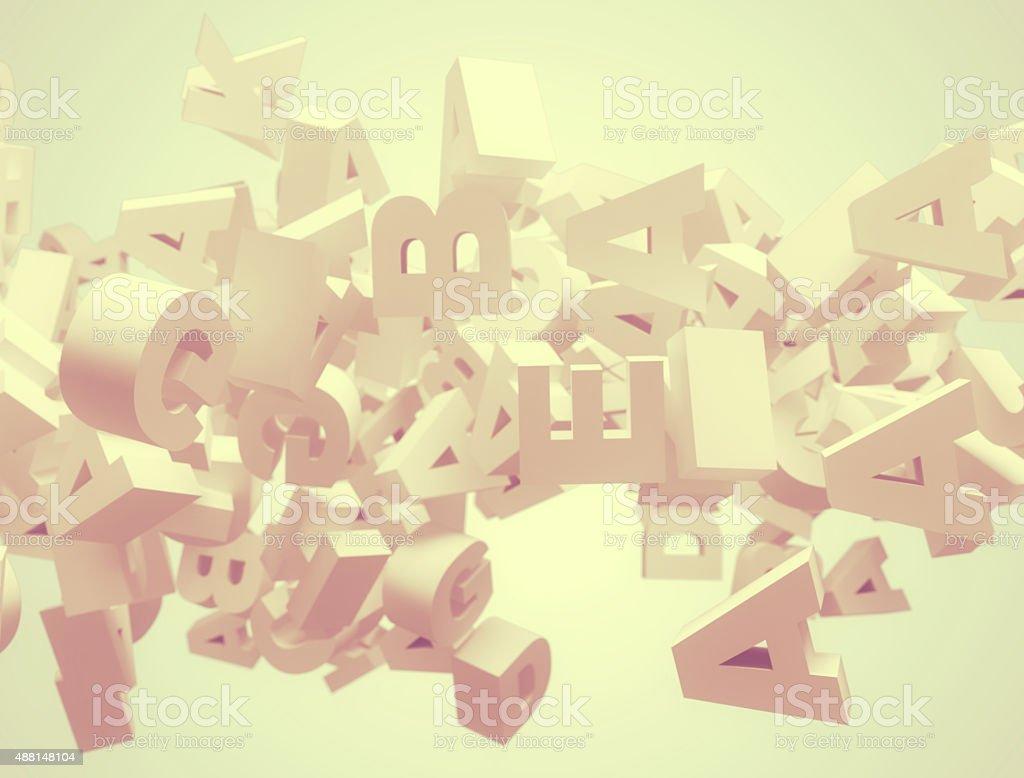 Zufällige 3d Buchstaben - – Foto