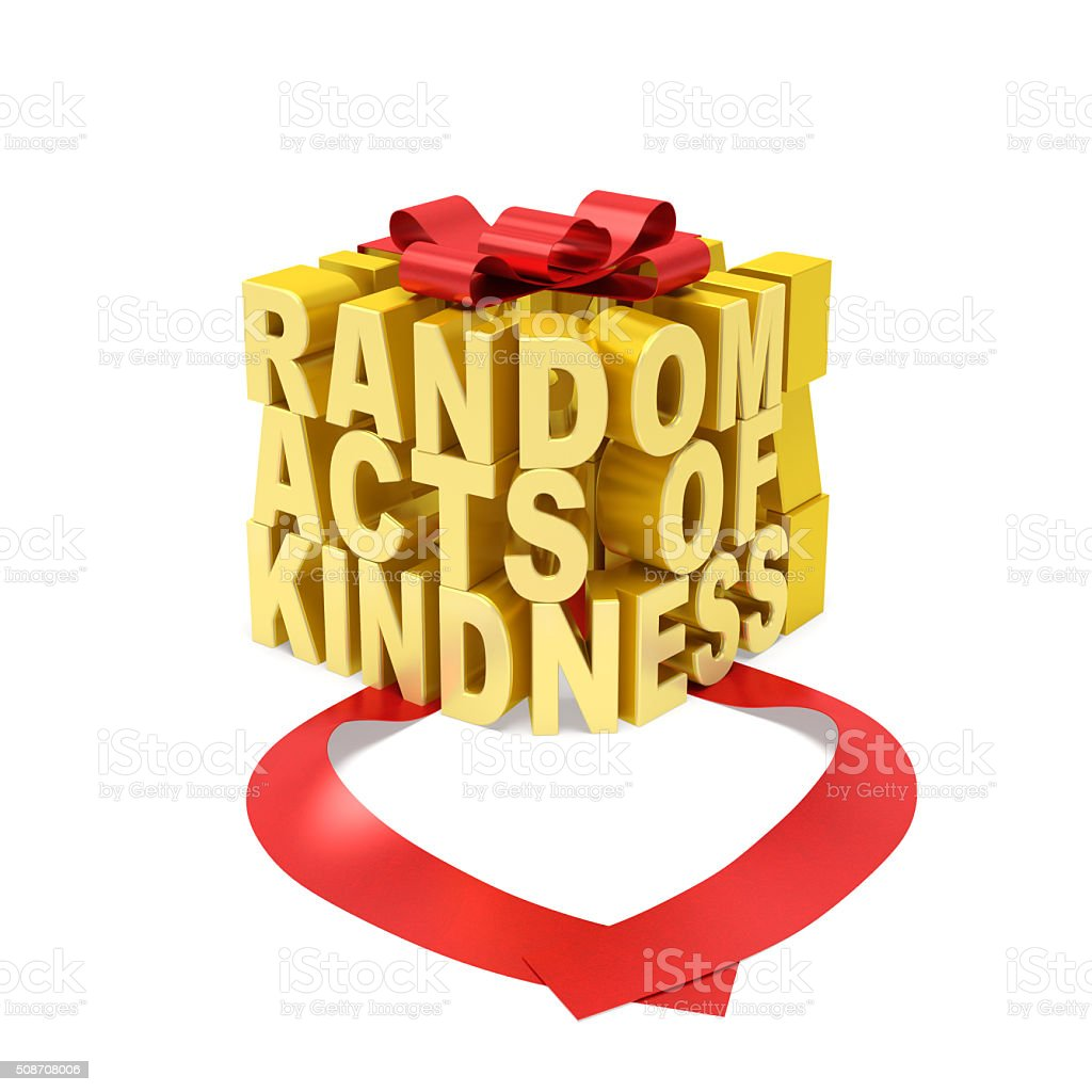 Random acts of kindness day (creative concept) stock photo