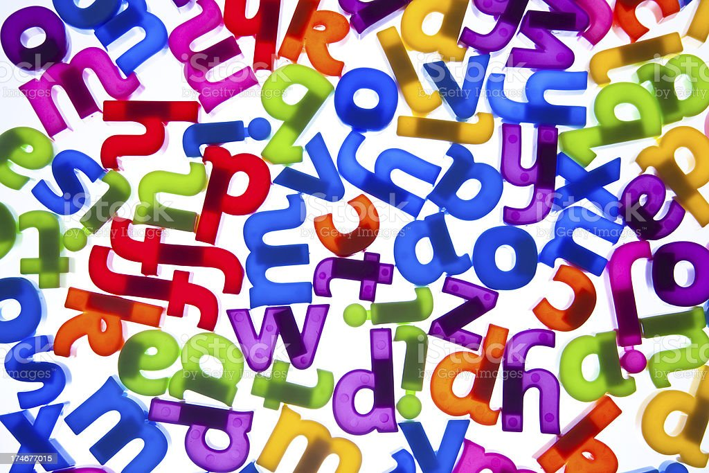 Random alphabet letters royalty-free stock photo