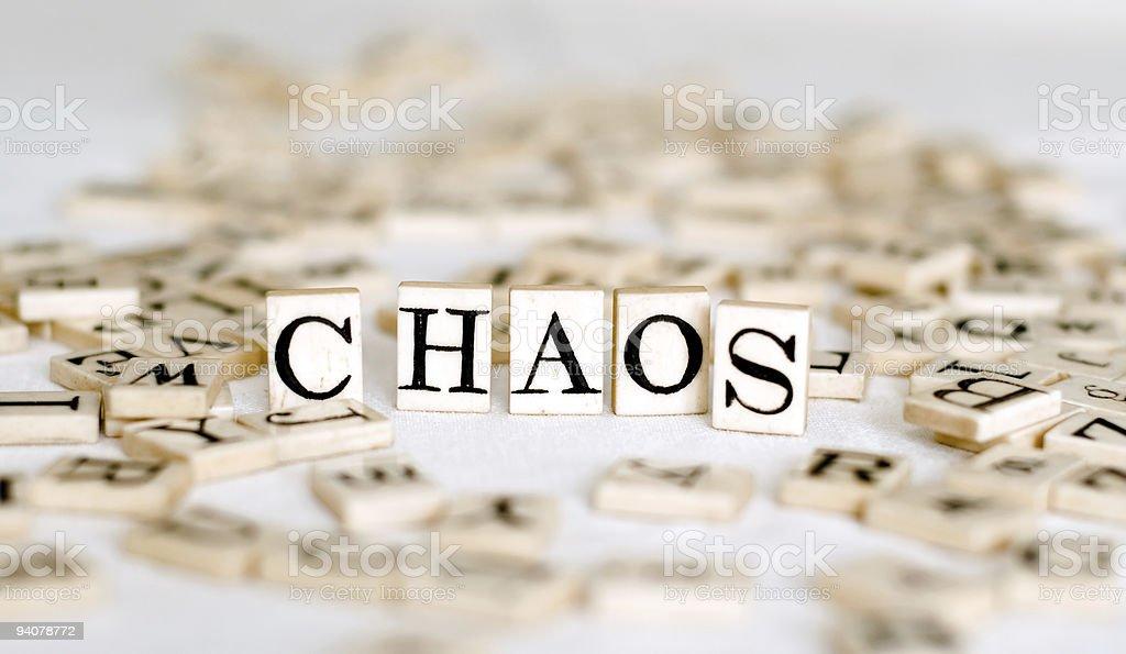 Random Alphabet with the word 'Chaos' royalty-free stock photo
