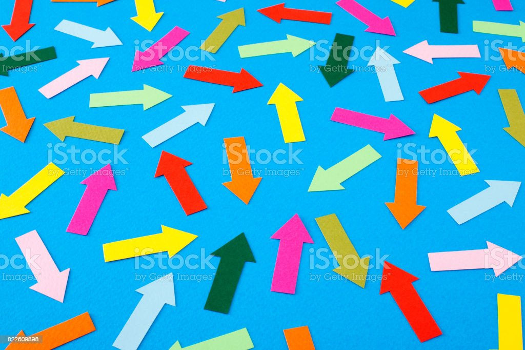 Random arrows stock photo