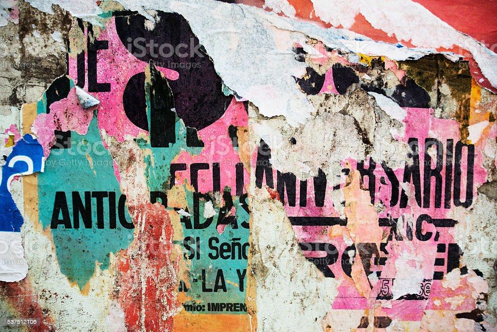 Random Hintergrund collage Papier Typografie Struktur an der Wand – Foto