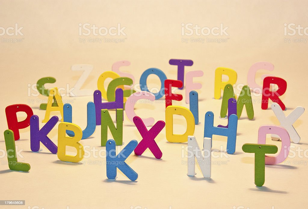 Random Letters royalty-free stock photo