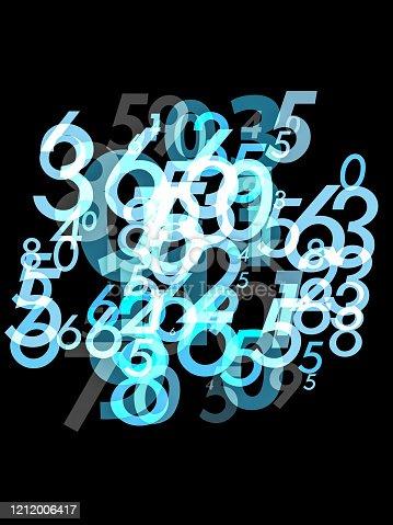 istock Random Numbers Pattern 1212006417