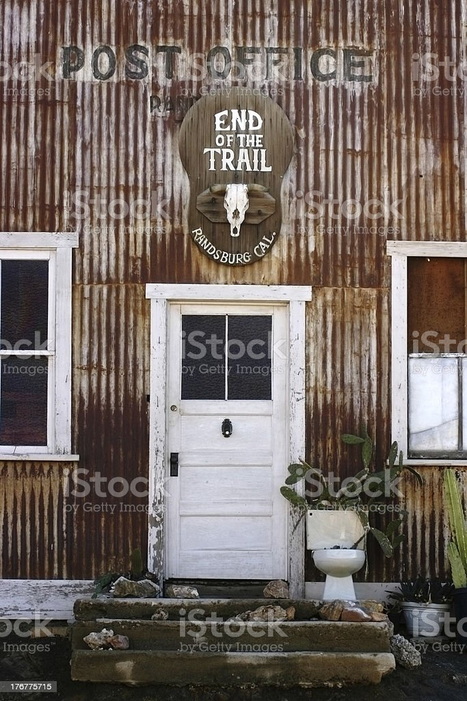 Randsburg Post Office royalty-free stock photo