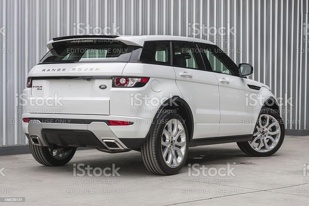 Range Rover Evoque Backside View Stock Photo More Pictures - Range rover stock