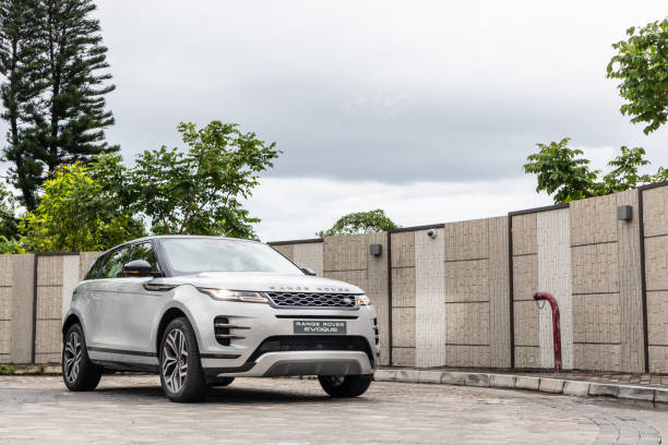 Range Rover Evoque P250 Test Drive Day Hong Kong, China July, 2019 : Range Rover Evoque P250 Test Drive Day on July 3 2019 in Hong Kong. range rover stock pictures, royalty-free photos & images