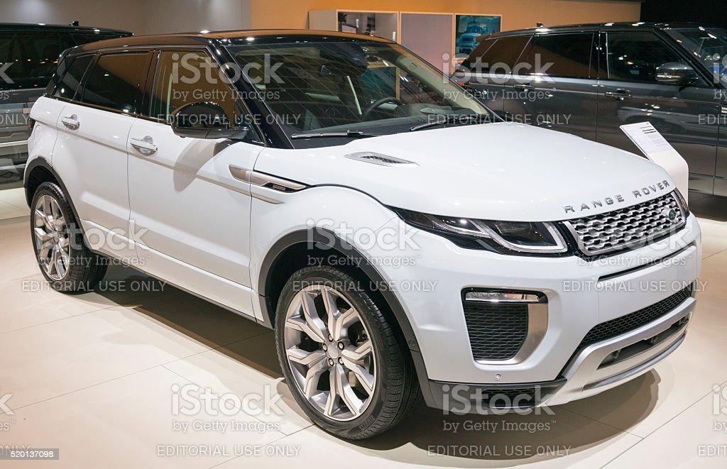Range Rover Evoque SUV stock photo