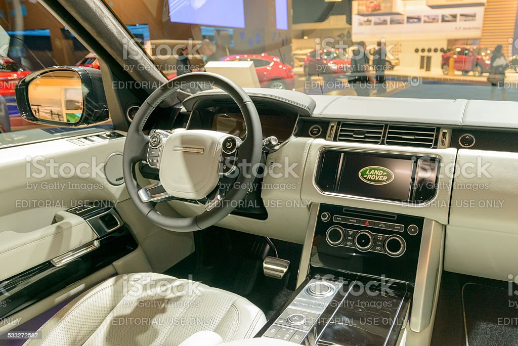 Range Rover Luxury Suv Interior Stock Photo More Pictures Of 2015