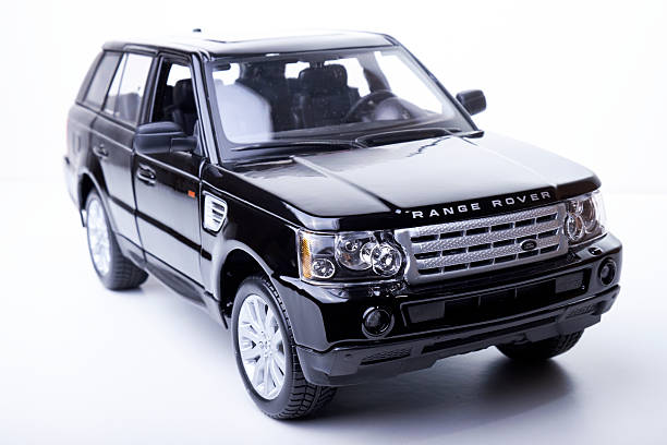 Range Rover Sport Model Beaconsfield, UK - September 6, 2014: A model of a black Range Rover Sport against a bright white background. range rover stock pictures, royalty-free photos & images